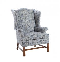 Chippendae Wing Chair  THe color and pattern...beautiful