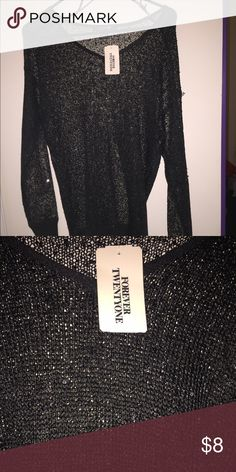 ‼️SALE Black Sequin Sweater‼️ Never worn sweater from forever 21 with tags Forever 21 Tops Blouses