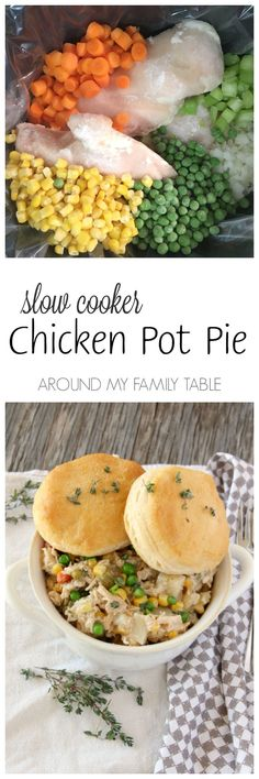 Warm and delicious, this Slow Cooker Chicken Pot Pie is hands down the easiest chicken pot pie you'll ever make. #ReynoldsCrowd #ad