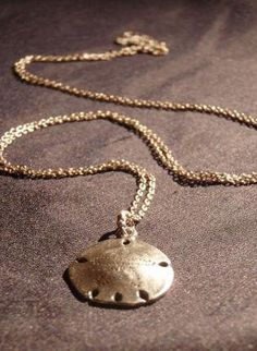 $22.00- Jewelry - sterling silver Sand Dollar necklace | UsTrendy