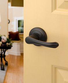 Vail Aged Oil Rubbed Bronze Passage Door Knob Lever  #DynastyHardware #DoorKnobs