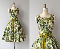 Hills of Ireland dress • cotton 1950s dress • vintage 50s dress