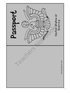Cute Student Passport product from The-Price-of-Teaching on TeachersNotebook.com