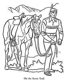 The Lone Ranger and Tonto Coloring Page sheets - The Lone Ranger in ...