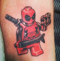Lego Deadpool tattoo. Badass