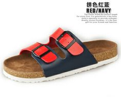 2014 New Birkenstock Casual buckle Shoes slippers cork sandals slides for women's men's sandals Zapatos mujer femininos hombre-in Sandals fr...