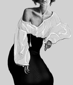 Bohemian, Print of original artwork by Amanda Steines, digital fashion illustration