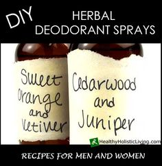 Do you know what chemicals are in your deodorant.  It's not good time to make your own DIY herbal deodorant sprays
