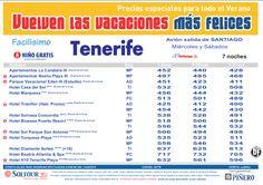 3ªEdición Las vacaciones mas felices sep-oct. Hoteles en Tenerife salidas desde Santiago de Compostela - http://zocotours.com/3aedicion-las-vacaciones-mas-felices-sep-oct-hoteles-en-tenerife-salidas-desde-santiago-de-compostela/