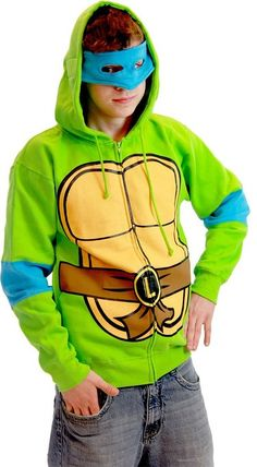 Teenage Mutant Ninja Turtles Costume Adult Hooded Sweatshirt with Detachable Eye Mask