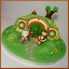 Bagend! Lord of The Rings themed cake, by Love Is Cake, Derby