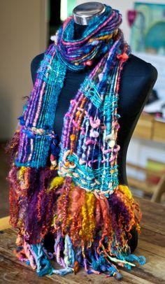 saori woven scarf