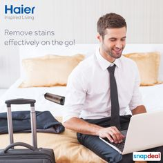 There will never be an unwanted stain on your favorite shirt while you are on your trip away from home. #Haier 's #Codo will ensure that you shine in stunning white in just 30 seconds. ‪#‎UnStain‬ ‪#‎StainsWontPain‬  Available exclusively on ‪#‎Snapdeal‬.   #LifeStyle   #Innovation   #Technology  #HaierIndia