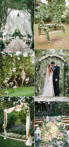 wedding ceremony decoration ideas for garden themed wedding ideas Related posts:Cozy Backyard Wedding Decor Ideas For Summer lawn games for outdoor wedding fun as seen on Offbeat Bride chic bohemian wedding outdoors diner banquet garland around tree g . Wedding Ceremony Decorations, Wedding Themes, Wedding Bells, Wedding Flowers, Wedding Venues, Wedding Ideas, Wedding Reception, Wedding Ceremonies, Wedding Arches