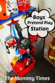 Pretend Play for Boys Themed Nursery, Nursery Themes, Boys Playing, Fire Engine, Pretend Play, Logan, Playroom, Day, Game Room Kids
