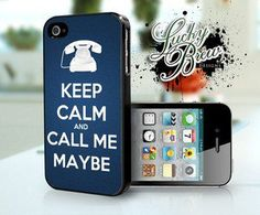 Keep Calm Call Me Maybe Funny Phone Case - Apple iPhone 4 4s Hard Case Cover @Erin Mack. YOU NEED THIS.