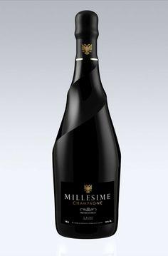Millesime Champagne - France - a bottle style for every occasion Alcohol Bottles, Liquor Bottles, Wine And Liquor, Glass Bottles, Beverage Packaging, Bottle Packaging, Coffee Packaging, Food Packaging, Wine Label Design