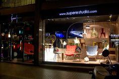 Escaparte nórdico - vintage del Showroom de SuperStudio en #Barcelona