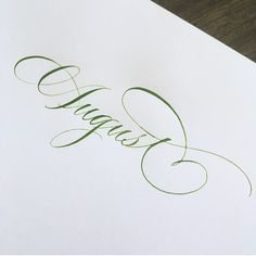 August is here!😊 . . . #august #summerdontgo #calligraphy #handlettering #pointedpen #copperplate #stlcalligrapher #stlouiscalligrapher Cute Calligraphy, Calligraphy Fonts Alphabet, Flourish Calligraphy, Calligraphy Tutorial, Calligraphy Drawing, Copperplate Calligraphy, Tattoo Lettering Fonts, Hand Lettering Alphabet, How To Write Calligraphy