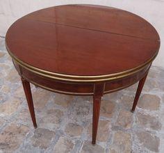 Antiquités - Table à jeux à système d'époque Louis XVI