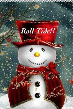 .Bama Snowman - Roll Tide!  Holiday Spirit!