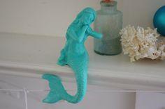 Beach Decor Cast Iron Mantel Mermaid   PICK by ByTheSeashoreDecor, $30.00