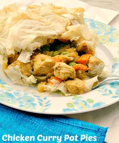 Chicken Curry Pot Pie - Low Calorie, Low Fat, Healthy Dinner - Pin it to your Chicken board