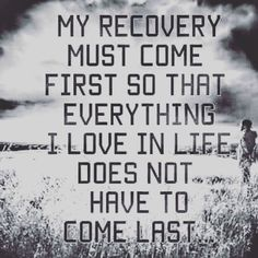 Not about drugs (I don't do them) but recovery in getting rid of old ways