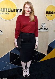 Red hot! Bryce Dallas Howard showed off her svelte figure at the Sundance Institute 'Night...