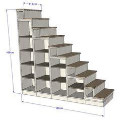 Escalier 1 quart tournant urban m tal les escaliers - Bibliotheque dans escalier ...