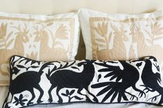Mexican Otomi Embroidered Pillows
