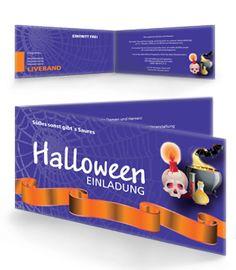 Einladungskarte in Violett für eure Halloween Party Einladung. #einladungskarte #einladung #halloween
