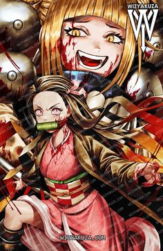 """""""How crazy obsessed would Toga be if she meet Nezuko? Attack On Titan Crossover, Attack On Titan Anime, Naruto Wallpaper, My Hero Academia, Dragon Ball, How To Draw Hands, Geek Stuff, Art Prints, Artwork"""