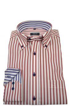 dd4005e20644a eterna casual men s red stripe eterna shirt Barbour Jacket
