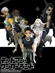 Deadman Wonderland. This is a great anime if you don't mind gore and bad language.