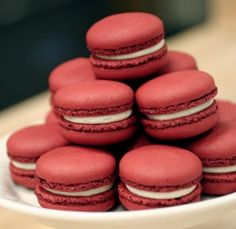 For a fun dessert, and something delicious to tie into your marsala accents, try red velvet macaroons!