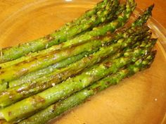 Cooking asparagus in the oven will give you a crunchy result and it seems to enhance the flavor. Use any of your favorite herbs if you dont like Italian Seasoning or omit herb altogether. Oven Baked Asparagus, Asparagus Recipes Oven, How To Cook Asparagus, Asparagus Dishes, Balsamic Vinegar, Roast Recipes, Cooking Recipes, Healthy Recipes, Outfits