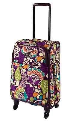 BRAND NEW  Vera Bradley  PLUM CRAZY  Rolling Luggage 22