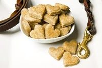 recipes for peanut butter dog treats, cheesy dog cookies, cool dog cubes or a frozen kong, & tuna cat treats Organic Dog Treats, Organic Snacks, Peanut Butter Dog Treats, Peanut Butter Recipes, Dog Treat Recipes, Dog Food Recipes, Biscuits, Puppy Treats, Dog Cakes