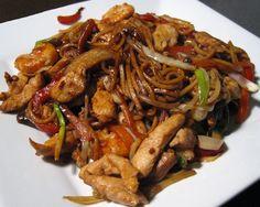 Varomeando: Chow mein de carne de cerdo