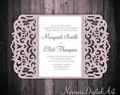 5 x 7'' laser tarjeta de invitación de boda por NarisariDigitalArt