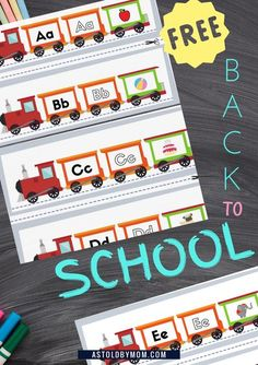 Read, Learn and with Starting Sound Objects. Download these Free Alphabet TRAINS this season, for your little ones/classroom boards. Pre Writing, Writing Practice, Writing Skills, Fun Activities For Toddlers, Preschool Activities, Phonics Sounds, Quiet Book Patterns, Summer Fun For Kids, How To Teach Kids