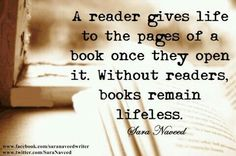 A reader... this makes you feel so important