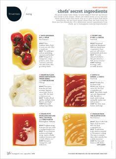 Bon Appétit by Elaine Ahn - PintoPin Editorial Design Layouts, Editorial Design Magazine, Magazine Layout Design, Magazine Layouts, Chef Dishes, Cookbook Design, Graphic Design Resume, Magazin Design, Annual Report Design