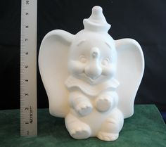 Disney's Dumbo in Ready to Paint Ceramic Bisque, Ceramic Dumbo, Ceramic Elephant, Disney Character by OriginalsByCathy on Etsy