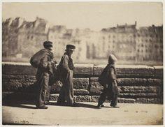Charles Nègre, Chimney sweeps walking, Paris, ca. 1851-2