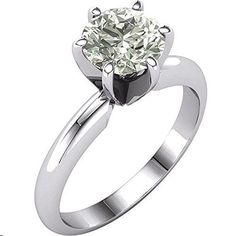 Gorgeous! Women's Forever Classic 14k White-gold 7.50 MM =1 1/2 CT Moissanite Solitaire Engagement Ring