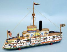 USS Oregon - Spanish American War era Tin-Toy ship