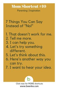 """Parenting and Inspiration Shortcuts Positive parenting: seven things you can say instead of """"no! Get your daily source of awesome life hacks and parenting tips! CLICK NOW to discover more Mom Hacks. parenting Parenting Hacks To Simplify Your Family Life Parenting Advice, Kids And Parenting, Parenting Quotes, Single Parenting, Peaceful Parenting, Parallel Parenting, Parenting Websites, Parenting Courses, Parenting Issues"""