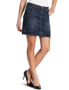 Dickies Women's Denim Skirt, Dark Stonewash Indigo, 4 Dickies. $24.99